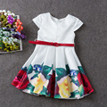 3-12 AÑOS Vestidos de Las Niñas Adolescentes Verano 2016 Floral Ropa de La Muchacha Vestido Elegent Princesa Vestido de Los Niños Del Partido de La Boda ropa