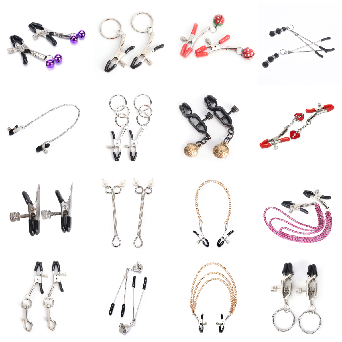 Chain Fetish Nipple Clamps Shaking Milk Stimulate For Women Couple Body Jewelry Accessories Exotic Accessories
