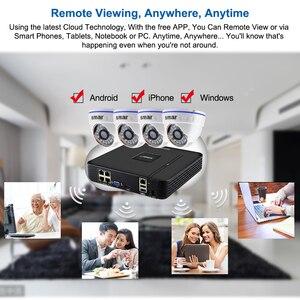 Image 5 - Smar نظام المراقبة المنزلية 4CH 1080P POE 48 فولت NVR CCTV عدة 4 قطعة 2MP 20FPS كاميرا صغيرة على شكل قبة للباب IP PoE طقم NVR نظام الدائرة التلفزيونية المغلقة