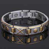 99.999% Pure Germanium Bracelet for men Korea Popular Titanium Health Magnetic Germanium Energy Power Jewelry