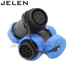 SP2110/P12 S12  12 wtyk wodoszczelny męski + żeński  LED 12 złącze pinowe  kabel do zastosowań zewnętrznych złącze wtykowe w Złącza od Lampy i oświetlenie na