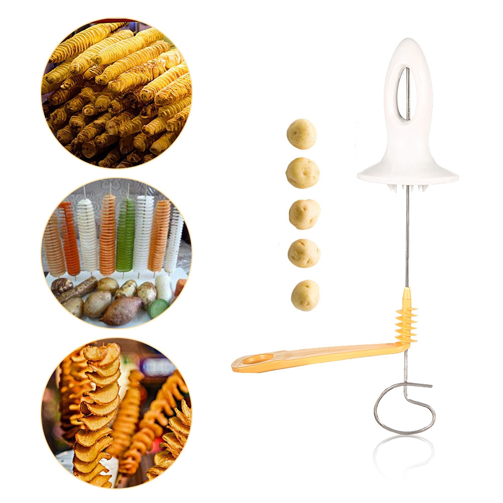 Manual Potato Chips Spiral Slicer Tower Making Twist Shredder Kitchen Accessories