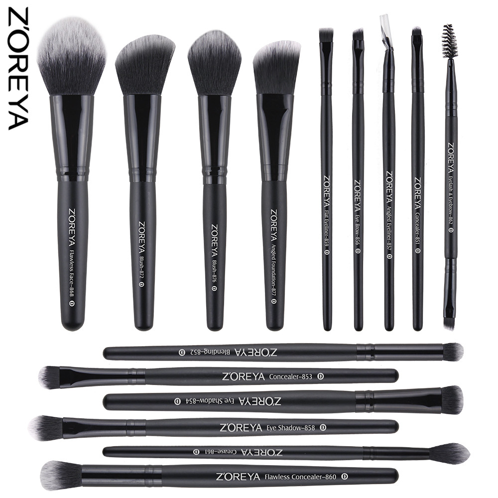 ZOREYA Makeup Brush 10 Model Different Function Face And ...