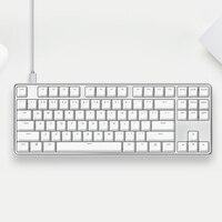 Оригинальный XiaoMi yuemi Pro MK02 87 Ключи NKRO Cherry переключатель Съемная USB Проводная Механическая клавиатура