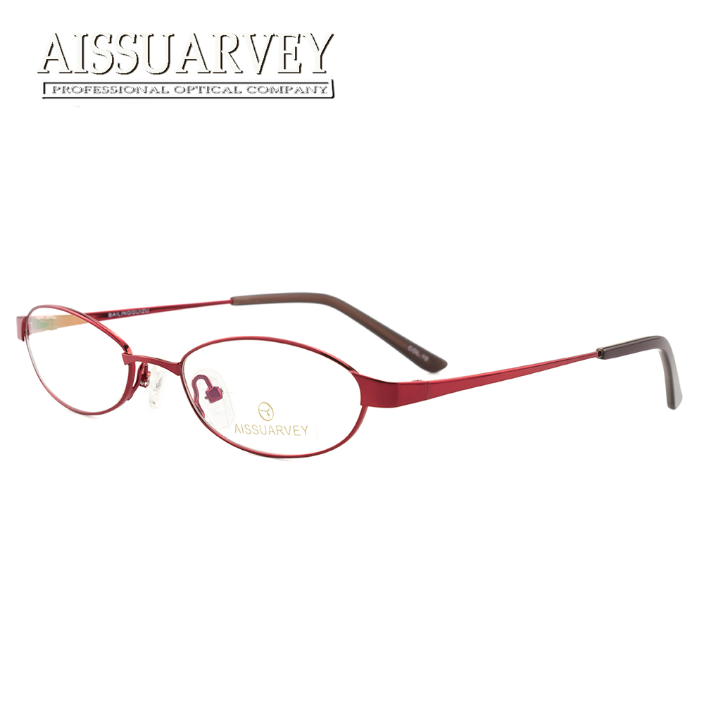 Optical Small Glasses Frames for Women Metal Oval Female Eyeglasses Prescription Eye Wear New Full Rim Computer Reading Goggles