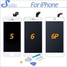 Ограниченное предложение Санька AAA для Apple IPhone 5S 5 6 6 Plus ЖК-дисплей Дисплей Сенсорный экран полный комплект планшета замена Ассамблея ЖК-дисплей телефон запчасти