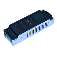 Jiawen DC 12V 10A Regulated Switching Power Supply Adapter Black Silver AC 100 240V