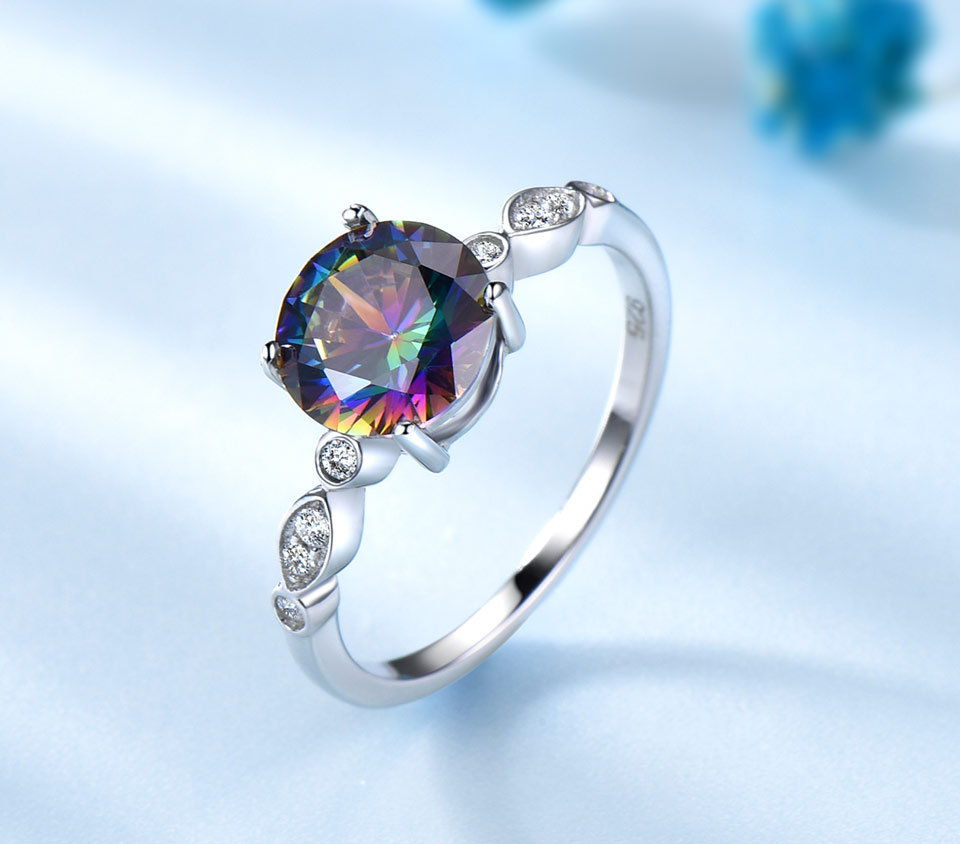 HTB1JuH6qoR1BeNjy0Fmq6z0wVXaD UMCHO Genuine Rainbow Fire Mystic Topaz Rings for Women Genuine 925 Sterling Silver Trendy for Women Romantic Gift Fine Jewelry