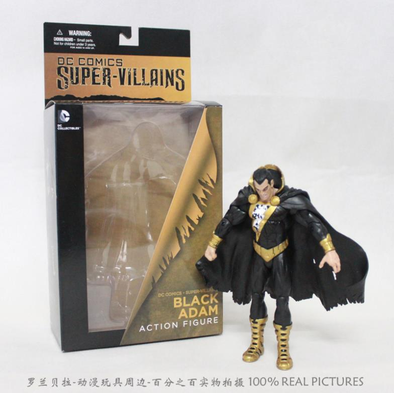все цены на  Free Shipping DC Comics Super Villains Black Adam PVC Action Figure Collection Toy HRFG147  онлайн