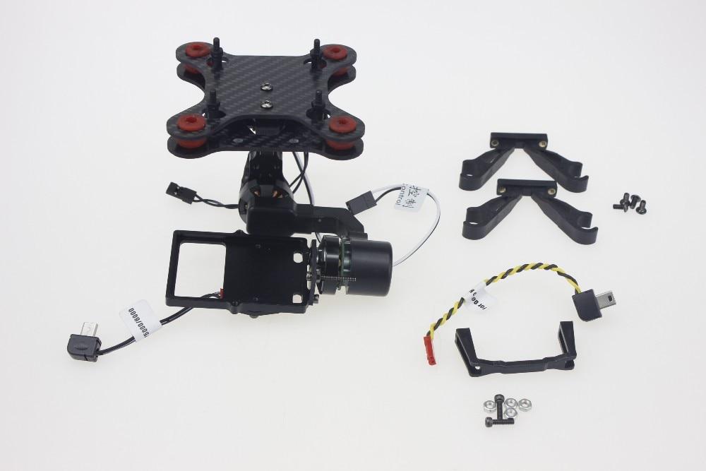 SJ2D 2-Axis Brushless Gimbal for SJ4000 SJ5000 Gopro Hero 3 4 Camera DIY FPV Multirotor S550 Tarot 650 Phantom dji phantom 4 axis aircraft gimbal for gopro hero2 3 black antique silver
