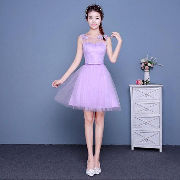 Purple Modest Knee Length Homecoming Dress