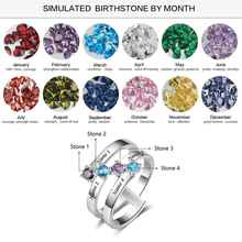 Trendy Birthstone Promise Ring