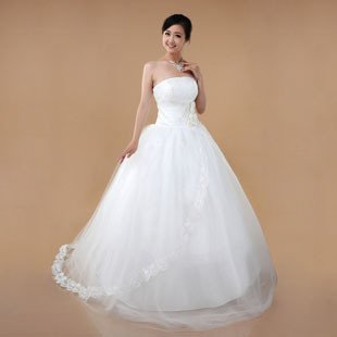 Freeshipping 2011 New Arrival Organza Strapless Princess Bridal Dress,Bridal Gown,Wedding Dress