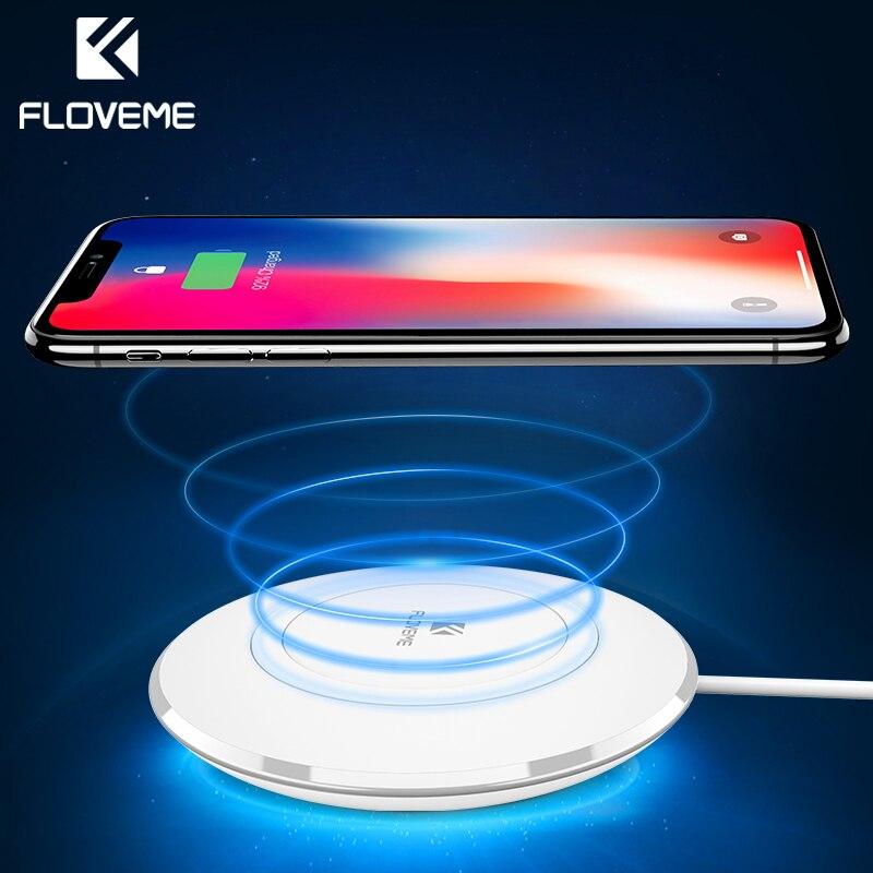 FLOVEME Qi Wireless-ladegerät Für iPhone X 8 8 Plus Wireless Charging Dock Pad Für Samsung S8 S8 Plus S7 Kante Anmerkung 8 5 Nexus 4/5