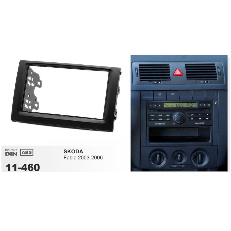 Double 2 DIN autoradio Fascia pour SKODA Fabia 03-06 stéréo tableau de bord panneau montage cadre Kit adaptateur garniture lunette