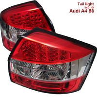 High Quality LED Tail lights for Audi A4 B6 S4 2001 2004 year (Does not fit convertible or wagon models) Red Clear Housing