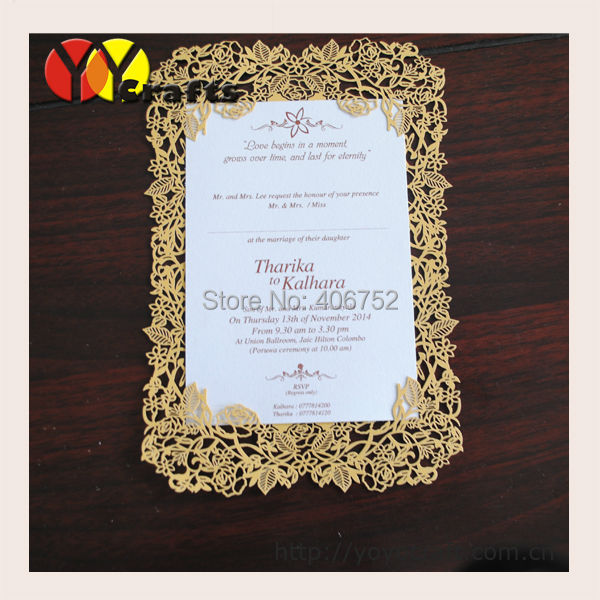 wholesale wedding accessory rose design gold ivory laser cut ...