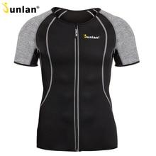 Мужской неопреновый утягивающий шейпер Junlan, эластичный банный костюм, тренажер для талии, футболка для контроля потери веса