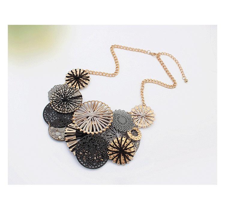 Handmade Big Flower Bib Choker Necklace Bohemia Style Ikeacasa, Free Shipping