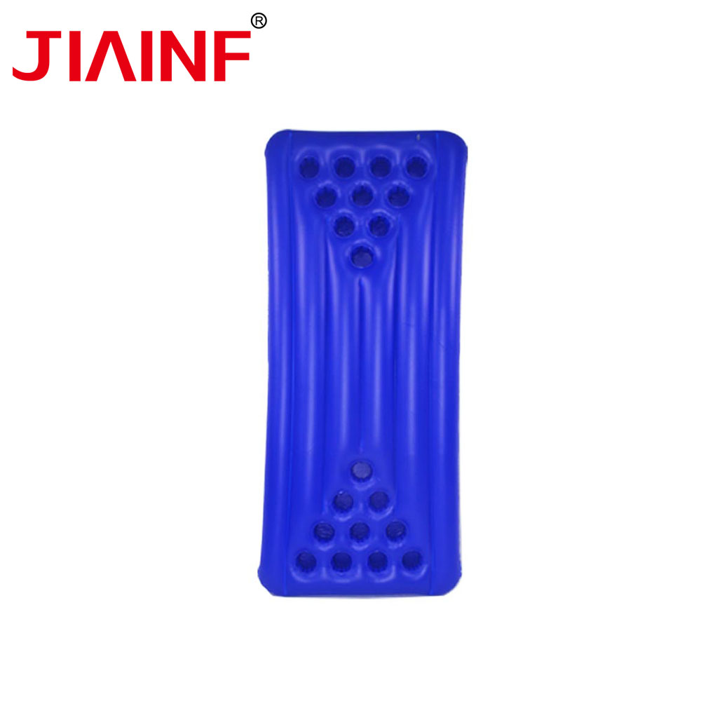 JIAINF Inflatable Blue 20 Holes Drinks Float Cup Holder Rectangle Swimming Float Party Toys Water Mattress For Cups Drinks