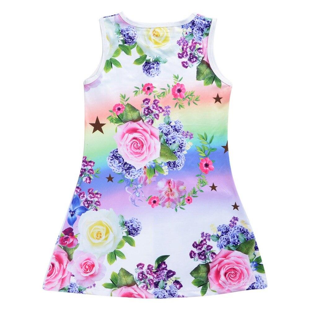 HTB1JuIrXkT2gK0jSZFkq6AIQFXaS 2019 Summer Girls Dress Butterfly Unicorn Print Kids Dresses Baby Girls Princess Dress Party Clothes Sleeveless Birthday Dresses