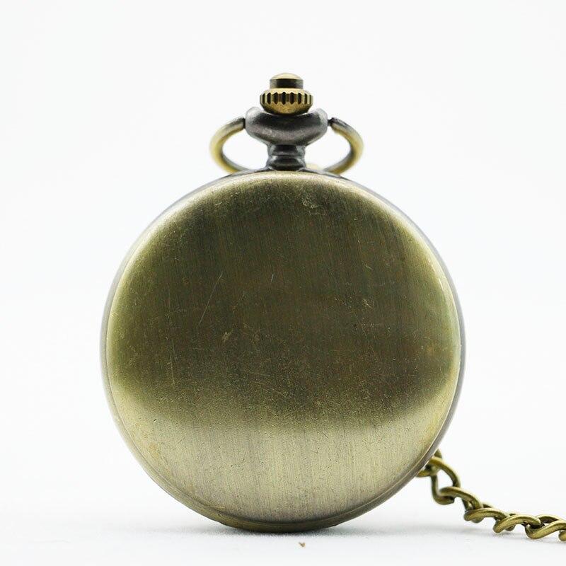 Vintage Bronze Matte Quartz Pocket Watch Retro Men Women Classic Pendant Necklace Clock CF1004