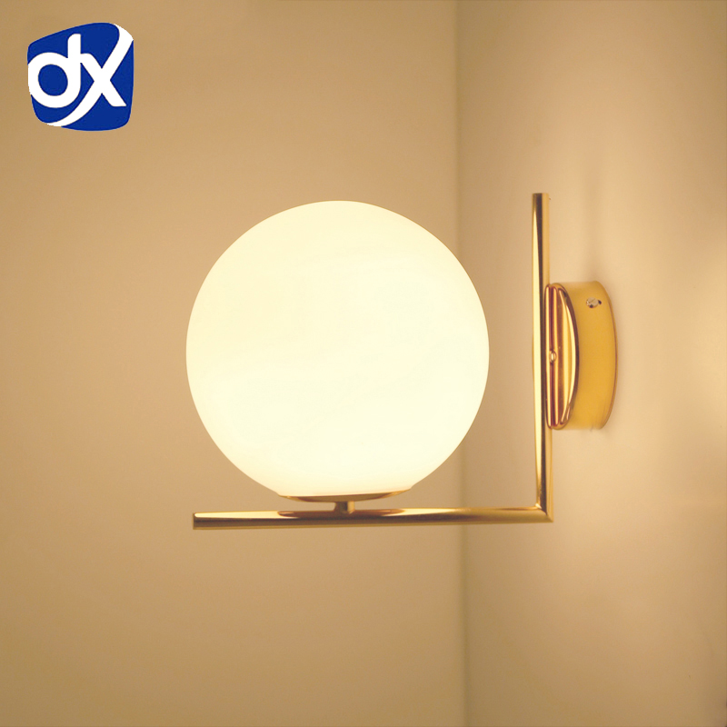 Горячее предложение просто постмодерн Стиль настенный светильник Стекло мяч лампы Lampen настенный светильник деко лампе пост современный ог...