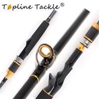 TopLine Tackle carbon fishing rod travel spinning set fly combo ultra light winter pen jigging lure trolling fishing rods 1.8m