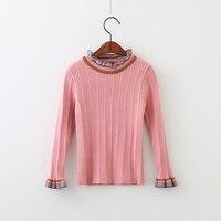 속옷 봄 어린이 솔리드 스웨터