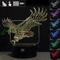 Águila de Luz Nocturna en 3D RGB Cambiable Mood Lámpara de Luz LED dc 5 v usb lámpara de mesa decorativa consigue un free remote control