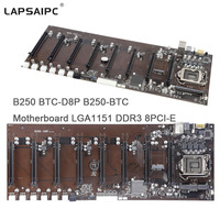 Lapsaipc B250 D8P D3 tested Motherboard LGA1151 DDR3 8PCI E Slots for Miner B250 D8P D3 Mining mainboard