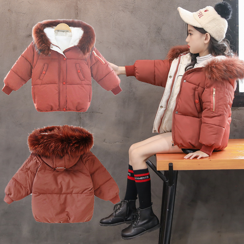 2018 Kids Winter Coat for Girls 4 6 8 10 12 Years Long Sleeve New Zipper Keep Warm Clothes Girls Thick Jacket Hooded Coat 5A12B plus size down jacket 2017new thick winter clothes for women fashion jacket female long sleeve zipper hooded coat female k269a0