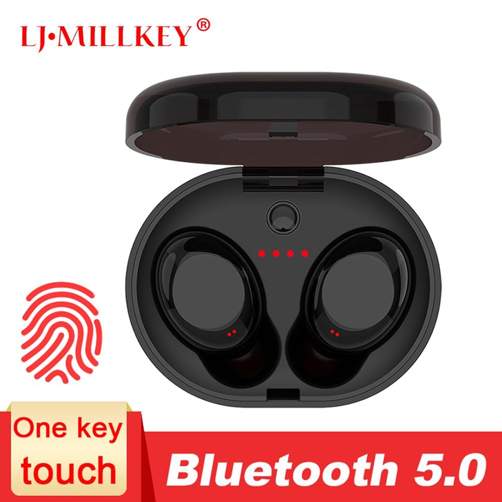 TWS 5.0 Auricolare Bluetooth di Tocco di Controllo di Musica Stereo In-Ear Tipo IPX6 Impermeabile Auricolari Senza Fili con scatola di Carico YZ213