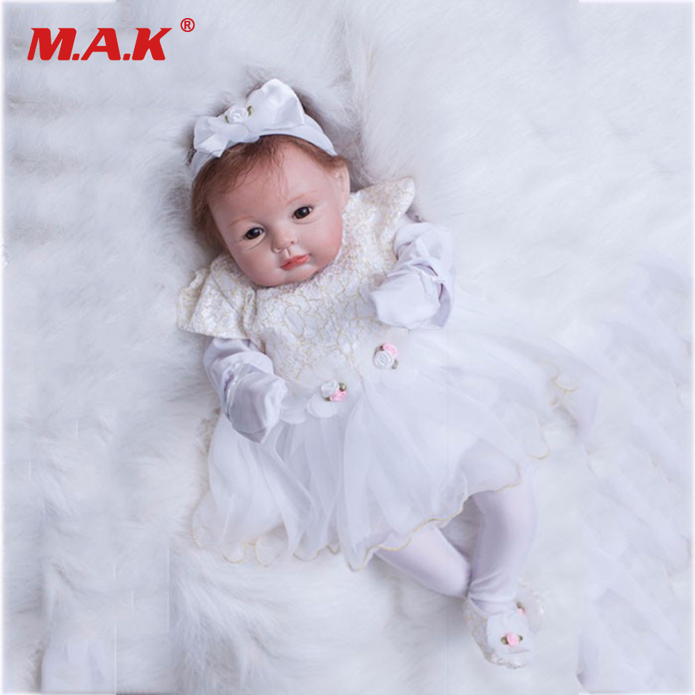 22 inches 55 cm Silicone Vinyl Baby Reborn Dolls Bebe Toys Princess Babies Newborn Doll Gift for Children Kids 22 inches 55 cm sleepling baby reborn dolls lifelike realistic silicone vinyl girl bebe dolls reborn doll for children gift