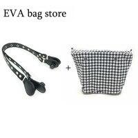 1 Pcs Canvas Classic Bag Pu Leather Bag With One Handles For Obag Handbag
