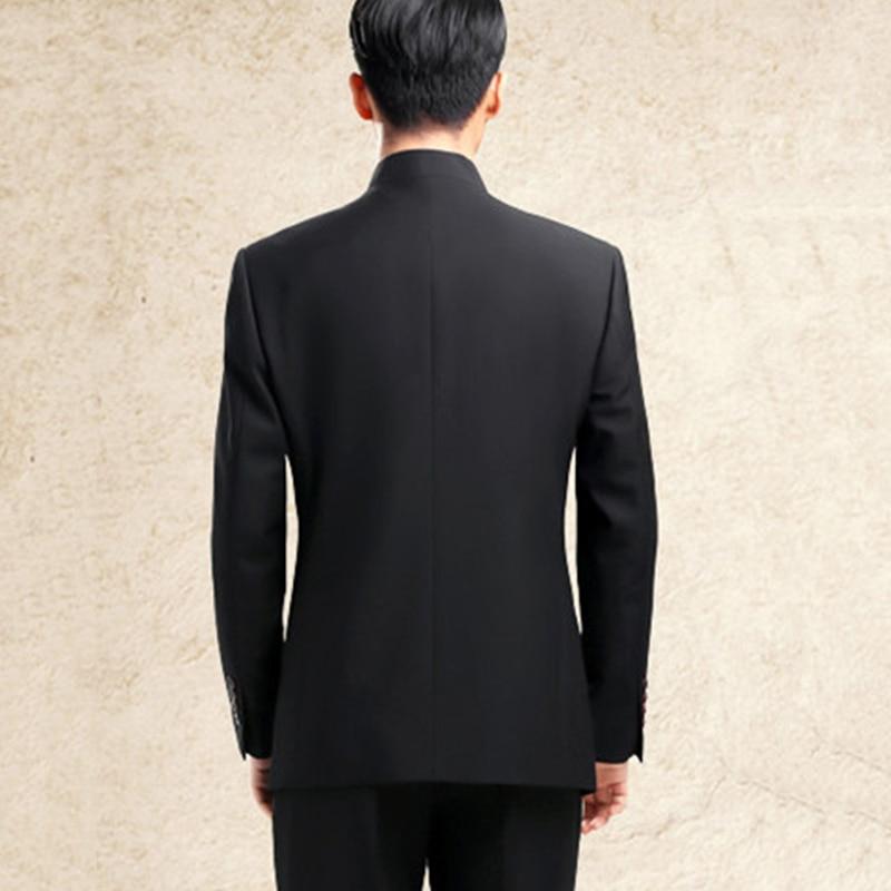 Estilo Traje Collar Chino Hombres Dragon Chaqueta Bordado Mandarín 6A1RZnT 425fb6cda33