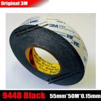55mm 50M 0 15mm 3M Double Sided Adhesive Tape 9448 Black For Cellphone Repair LCD Screen