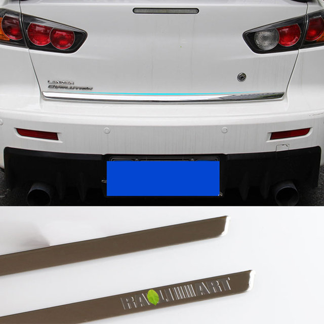 FIT FOR MITSUBISHI LANCER EX RALLIART 2008-2016 ACCESSORIES REAR DOOR TRUNK LID TRIM MOLDING COVER STICKERS CAR STYLING