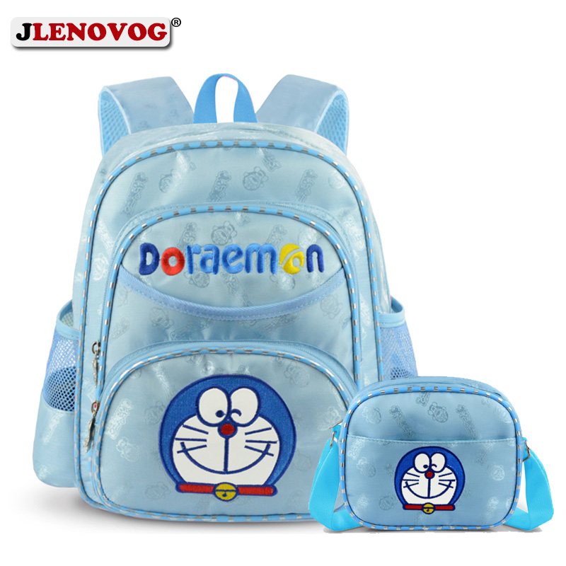 New Doraemon School Bag Kids Girls Sweet Sky Blue Backpack Cartoon School Bag 15 Inch For Pupil Students Kuwaii Daypack Ruchsack
