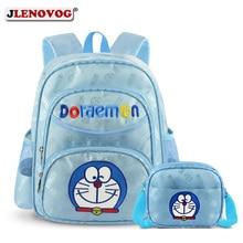 New Doraemon School Bag Kids Girls Sweet Sky Blue Backpack Cartoon bag 15 inch for Pupil Students Kuwaii Daypack Ruchsack