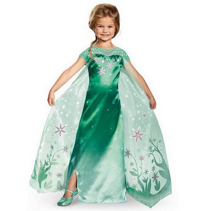 CNJiaYun Girls Dresses Snow Queen Princess Dress For Girls Cartoon Cosplay Elsa Anna Dresses Costume Clothes Kids Clothing new children cartoon costume for kids snow queen dress anna elsa dresses elsa clothing girls brand baby girl clothes kids tutu