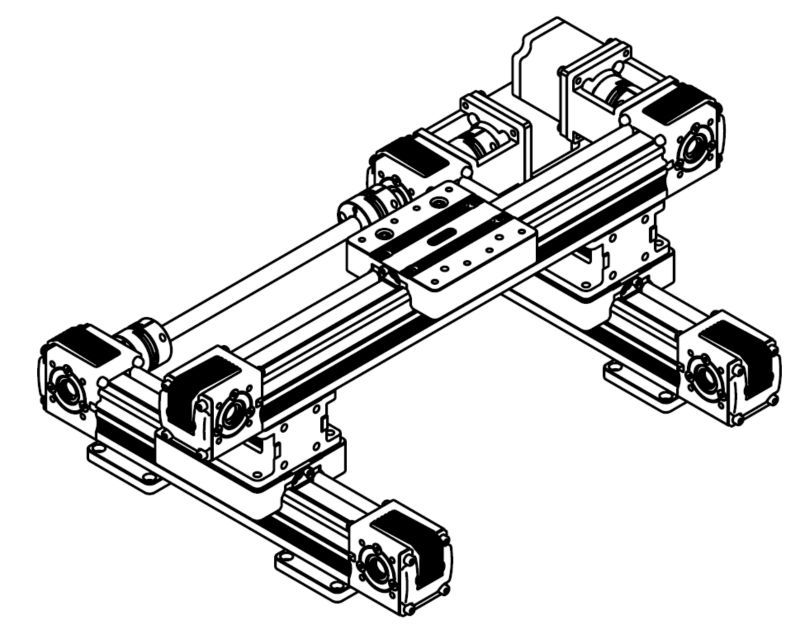 3 axis linear rail/manual linear guideway /xyz slide linear position actuator linear shaft support rail nema 23 xyz stage manual actuator medical motor electric guideway toothed belt driven