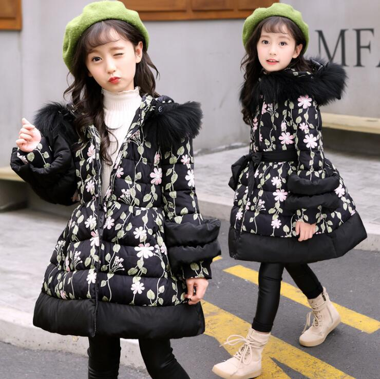 f38a7344b01d Children s Clothing Winter Clothes Girls Thick Cotton Coats 2018 New ...