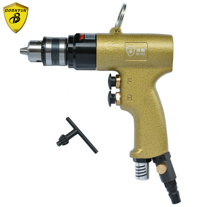 Borntun 1.5-10mm Low Speed Pneumatic Air Drill Bore Gun Pneumatic Bores Drills Tool Air Drilling Boring Woodworking Metalworking