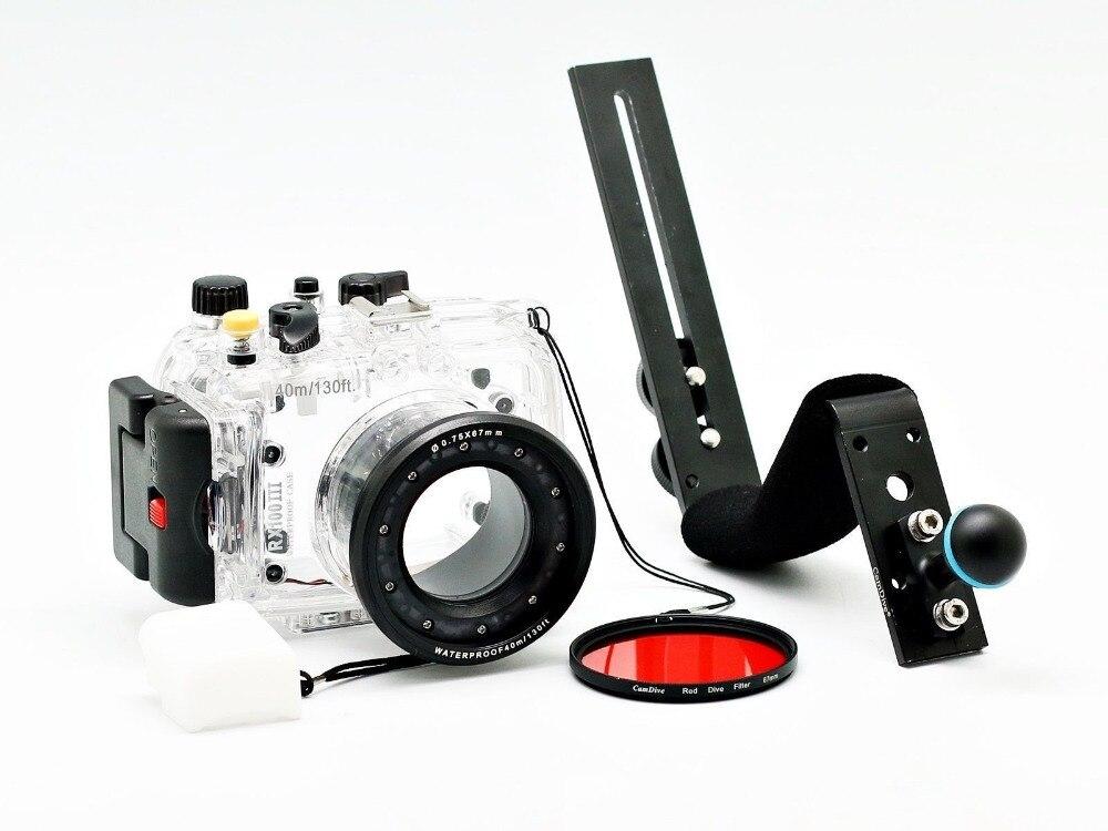 For Sony DSC RX100 III RX100 III RX100III 40m 130ft Meikon Underwater Camera Housing Diving Case