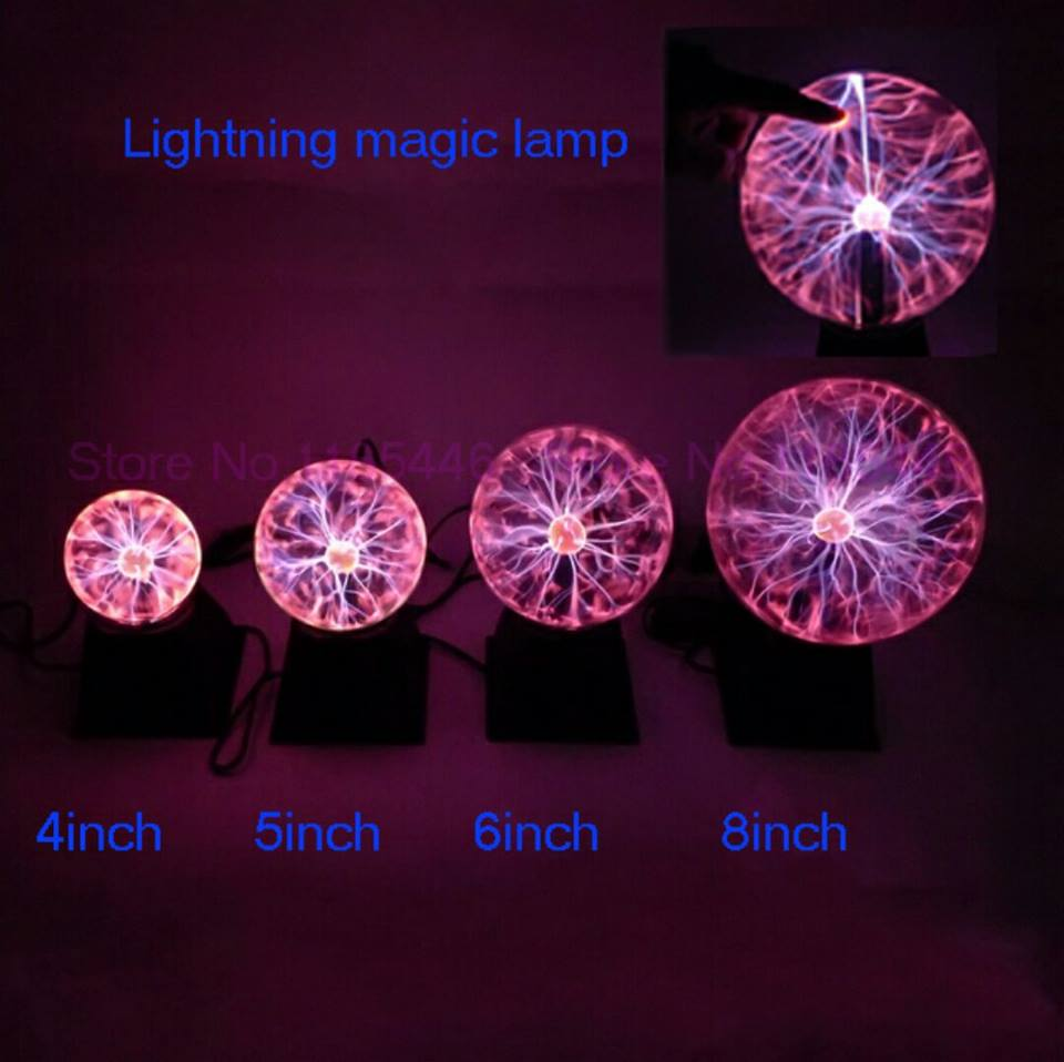 8 inch lightning ball magic ball male girls gift bola de plasma gift plasma ball