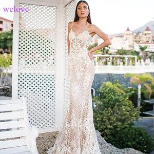 Image 2 - Robe de mariee Long Train Lace Mermaid Wedding Dresses 2020 New Custom Made Appliques fishtail Wedding Gown Vestido de noiva
