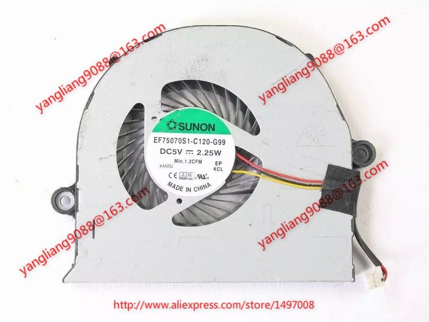 SUNON EF75070S1-C120-G99 DC 5V 2.25W Server Blower fan sunon mf75120v1 c180 g99 server cooling fan dc 5v 2 50w 3 wire