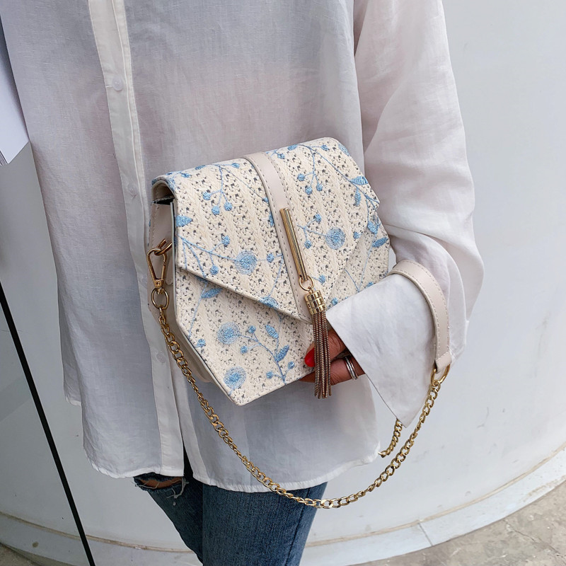 Hexagon Style Straw Lace embroidery Bag Handbags Women Summer Rattan Bag Handmade Woven Beach Bohemia Handbag 2019 New Fashion handbag