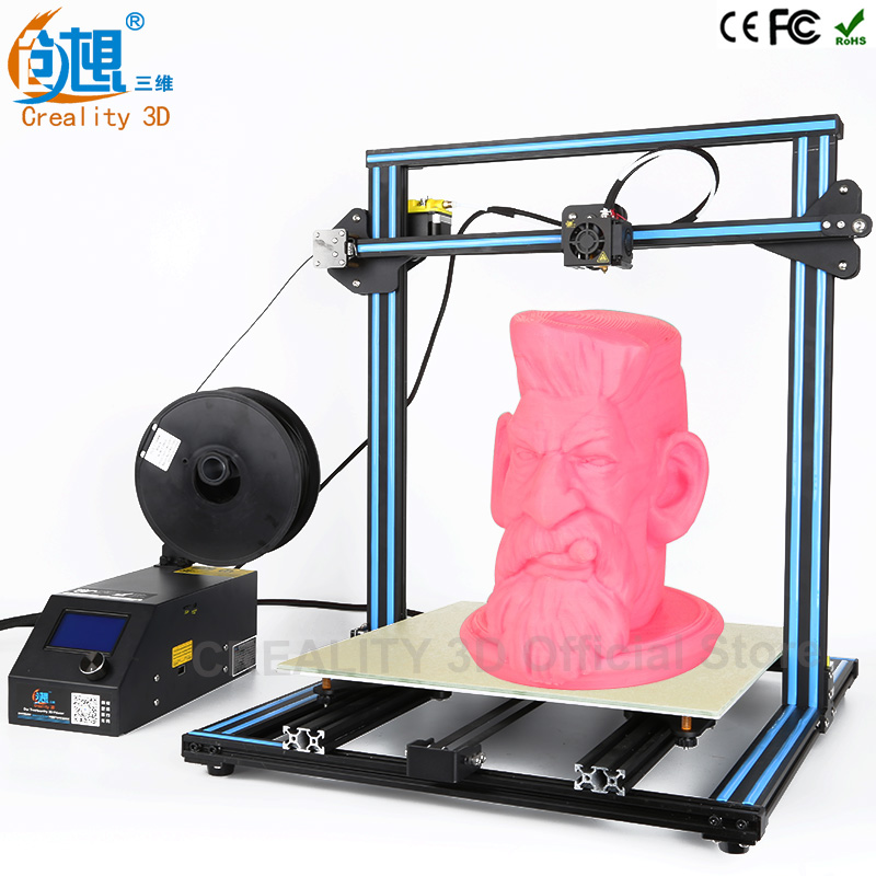 CREALITY 3D Printer CR-10 Large Printing 500*500*500mm Open Build Aluminium Frame 3D Printer kit printer 3d with Heated Bed 2017 easy build 3d printer cr 10 large print size 500 500 500mm with filaments hotbed sd card tools as a gift creality 3d